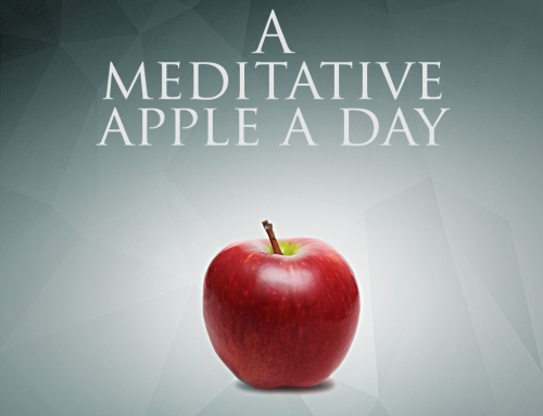 A meditative apple a day